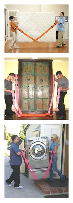 This back-saving forearm forklift will make moving heavy objects easy! $24.95 #Moving #DIY http://www.uhaul.com/MovingSupplies/Protective-stuff/Forearm-Forklift-Moving-Straps?id=2744