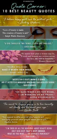 Quote Corner: 10 Best Beauty Quotes
