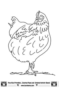 Free Rooster Pictures to Print | Chicken Coloring Pages,Lucy Learns Free Chicken Coloring Page Print ...