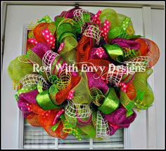 Summer Wreath Summer Wreath Wreath Chevron by RedWithEnvyDesigns, $85.00
