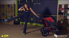 Friday Fitness with Farel: Standing Oblique Crunch - FIT4MOM. Parents, Next time you are out for a walk or run with your stroller (or in any of your workouts), try this great abdominal strengthener! Be sure to keep your spine in neutral and your entire core engaged as you do these very effective oblique crunches!