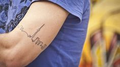 City Skyline tattoo - Portland and Seattle. <3