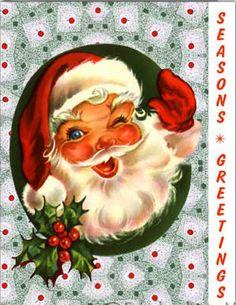 retro christma, christma card, christmas cards, vintag santa, vintage christmas, vintag christma, vintage santas, christma vintag, santa claus