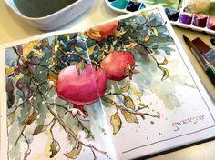 inspiration, journal pages, art journals, sketchbook, papers, ivory, flats, brenda swenson, forbidden fruit