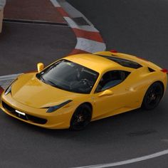 Yellow Ferrari 458 Italia . Your dream Ferrari?
