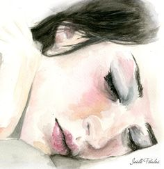 Sleep II  Fine Art Illustration Painting by JoellesEmporium, £12.00