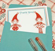Christmas Thank you Cards - free printable
