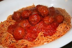 Easy 'Homemade' Spaghetti Sauce with Meatballs or Meat Sauce