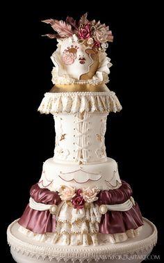 Mascarade Ball ~ CORSET DRESS CAKE ~