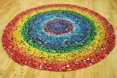 Rainbow Toy Car Installation Made from 2,500 Cars toys rainbows multiples cars