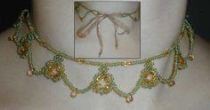 Princess Necklace - Step by step instructions for netting stitch seed bead necklace