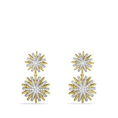 sunburst drops starburst doubledrop, doubledrop earring, dream, diamonds, david yurman, gold, jewelri, yurman starburst, earrings