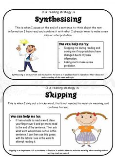 cards for reading strategies