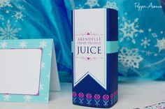 Frozen Party Juice Box Wrappers DIY Printable by xxPepperAvenuexx, $4.00
