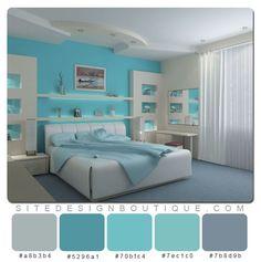 Blue Room Color Scheme - Website Design Boutique