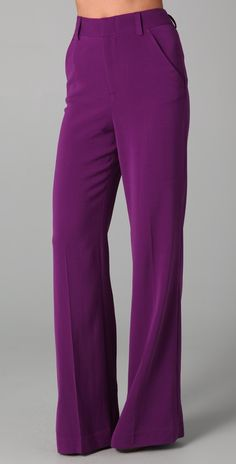 Pants on Sale Purchase #2 - Alice + Olivia wide-leg high waist pant in purple, $71 at Saks.