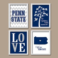 PENN State University College Custom Family Monogram by trmDesign, $35.00