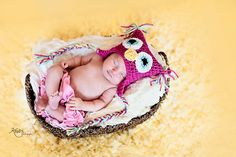 Custom Order Baby Owl Hat photo prop sz nb $19 Newborn and Baby Photography props #Snipits #Snipitsink #KradixPhotography