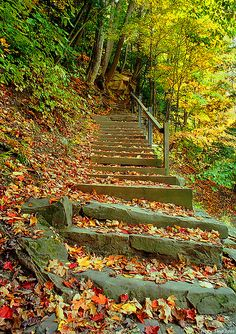 i've run these stairs a million times... chagrin falls, ohio