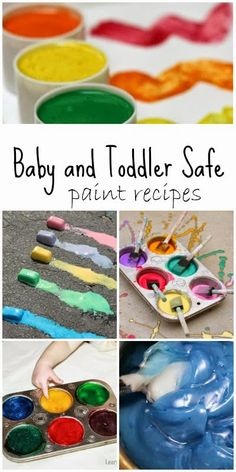 12 edible baby and toddler safe paint recipes you can make from ingredients you most likely have in your kitchen right now!