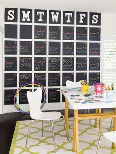 How-to: Giant Chalkboard Calendar - on HGTV
