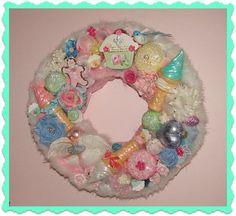 Sugar Plum Fairy Wreath Cupcake Wreath Ballerina by treasured2,