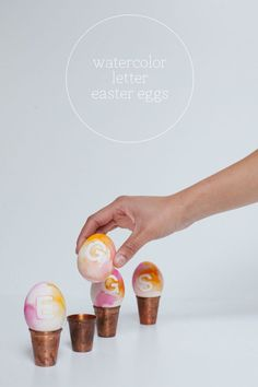 Watercolor letter eggs