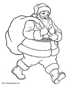Christmas - Santa coloring pages