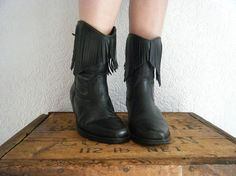 Boots  ! 80s fring, vtg boot, fring leather, western boots