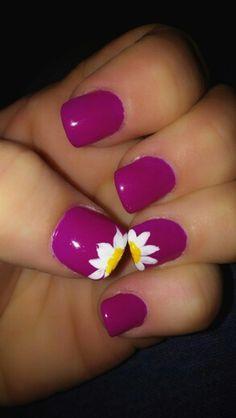 Spring nail art--love this colour!