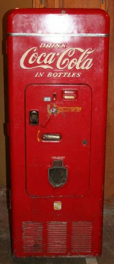 A 1950's Coca Cola vending machine