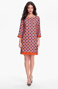 Eliza J Print Jersey Shift Dress available at #Nordstrom