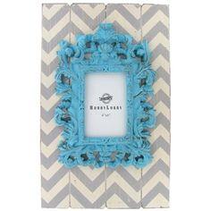 """4"""" x 6"""" Turquoise, White & Gray Chevron Photo Frame   Shop Hobby Lobby"""