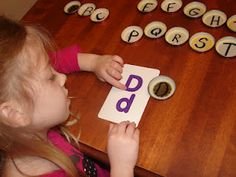 Baby Food Jar Lids - Letters - at Praises of a Wife & Mommy