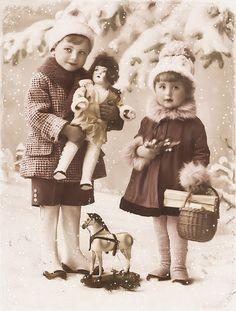 JanetK.Design du vintage numérique gratuit, Kerst