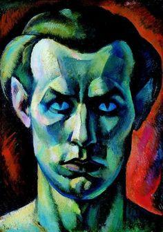 Jenö Gábor: Self Portrait from the Front (1921)