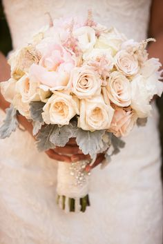 Romantic rose and peony bouquet