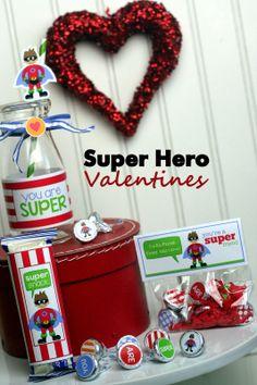 Super Hero Valentines Day Ideas #SuperHero #ValentinesDay #Valentines #SuperHeroValentines
