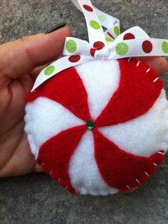 Pinwheel Felt Ornament.