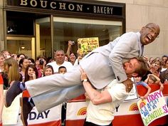 Ryan Gosling and Al Roker do the Dirty Dancing lift