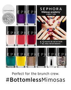 SEPHORA COLLECTION Makeup Academy Nails #BottomlessMimosas #Sephora #Giftopia #gifts #holiday