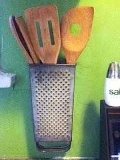 DIY utensil holder from Cheese Grater
