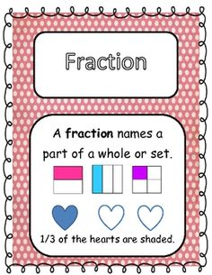 This free packet includes 5 posters for fraction vocabulary, Math station games and activities, printable worksheets to be completed in stations