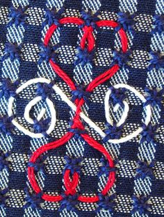 Broderie Suisse / Swiss Embroidery / Chicken Scratch - Stitch Image - Heart