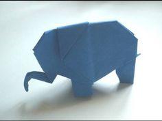 Origami: Elephant. Cómo hacer un elefante de papel
