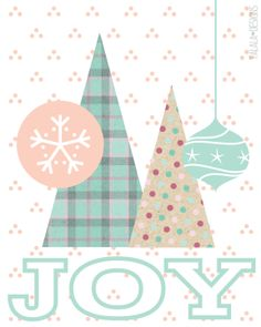 Free Joy Collage Printable from falala designs