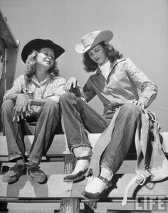 For our western style folder this fab picture of cowgirls from Life magazine [1949]