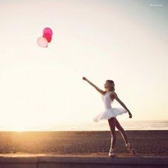 ballerina and balloons