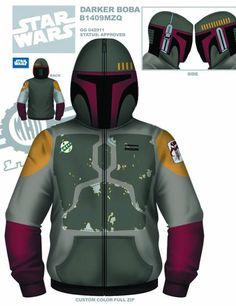 5 New STAR WARS Hoodies by Mad Engine - News - GeekTyrant  There are several of these. Boba Fett is clearly the most awesome.