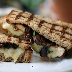 Grilled mushroom melt...see, grilled cheese can be healthy!